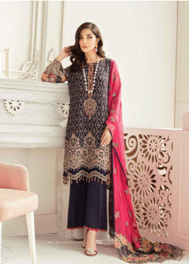 Flossie Embroidered Chiffon Unstitched 3 Piece Suit FL20LC 3 - Luxury Collection