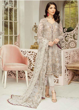 Flossie Embroidered Chiffon Unstitched 3 Piece Suit FL20LC 5 - Luxury Collection