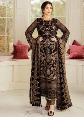 Flossie Embroidered Chiffon Unstitched 3 Piece Suit FL20LC 6 - Luxury Collection