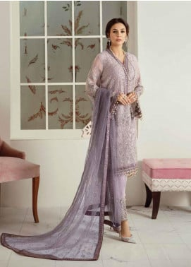 Flossie Embroidered Chiffon Unstitched 3 Piece Suit FL20LC 7 - Luxury Collection