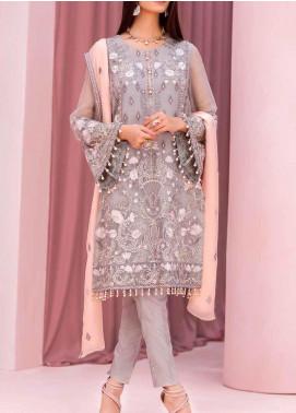 Kuch Khas by Flossie Embroidered Chiffon Unstitched 3 Piece Suit FL20-KK6 701 Abrisham - Luxury Collection
