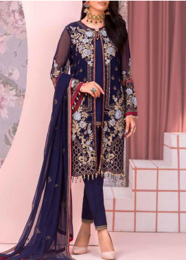 Kuch Khas by Flossie Embroidered Chiffon Unstitched 3 Piece Suit FL20-KK6 703 Larmina - Luxury Collection