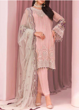 Kuch Khas by Flossie Embroidered Chiffon Unstitched 3 Piece Suit FL20-KK6 704 Bangul - Luxury Collection