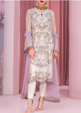 Kuch Khas by Flossie Embroidered Chiffon Unstitched 3 Piece Suit FL20-KK6 705 Afhak - Luxury Collection