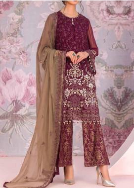 Kuch Khas by Flossie Embroidered Chiffon Unstitched 3 Piece Suit FL20-KK6 706 Heshter - Luxury Collection
