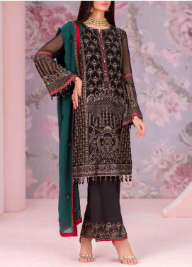 Kuch Khas by Flossie Embroidered Chiffon Unstitched 3 Piece Suit FL20-KK6 707 Esin - Luxury Collection
