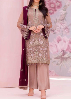 Kuch Khas by Flossie Embroidered Chiffon Unstitched 3 Piece Suit FL20-KK6 708 Armineh - Luxury Collection