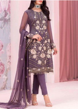 Kuch Khas by Flossie Embroidered Chiffon Unstitched 3 Piece Suit FL20-KK6 710 Elmas - Luxury Collection