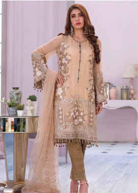Flossie Embroidered Chiffon Unstitched 3 Piece Suit FL20KC K-503 - Luxury Collection