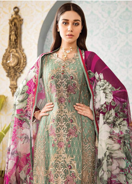 Kuch Khas By Flossie Embroidered Chiffon Unstitched 3 Piece Suit FKK19-C4 01 APPLE BLOSSOM - Luxury Collection