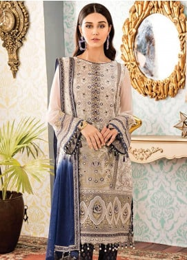 Kuch Khas By Flossie Embroidered Chiffon Unstitched 3 Piece Suit FKK19-C4 09 PASSION PETALS - Luxury Collection