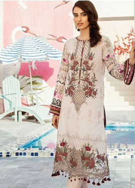 Flossie Embroidered Lawn Unstitched 3 Piece Suit FL19L 01 BEYOND THE ALLEY - Spring / Summer Collection