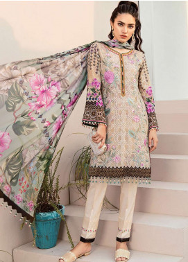 Flossie Embroidered Lawn Unstitched 3 Piece Suit FL19L 07 MORNING GLORY - Spring / Summer Collection