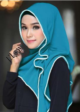 Flow Idea Hijab  Bubble Pop  Ladies Scarves HH Flow Ambara 07 Sea Green