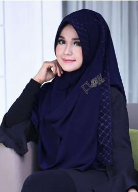 Flow Idea Hijab  Bubble Pop  Ladies Scarves HH Flow Amily 01 Navy Blue