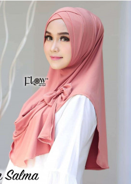 Flow Idea Hijab  Jersey  Ladies Scarves HH Flow Cross 01 Dark pink
