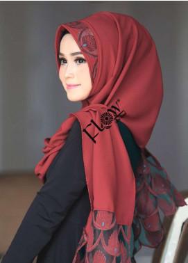 Flow Idea Hijab  Bubble Pop  Ladies Scarves HH Flow Maruya 02 Mehroon
