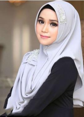 Flow Idea Hijab  Bubble Pop  Ladies Scarves HH Flow Nabila 03 Grey