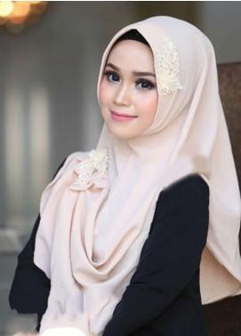 Flow Idea Hijab  Bubble Pop  Ladies Scarves HH Flow Nabila 05 Cream