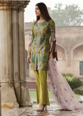 Floral Vintage Embroidered Swiss Voile Unstitched 3 Piece Suit FLV18S 03 - Festive Collection