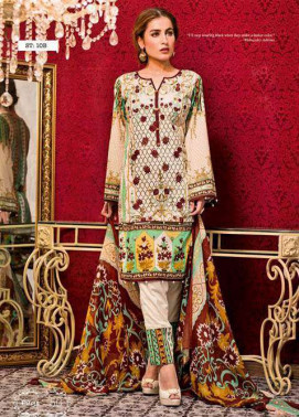 Feminine By Shariq Embroidered Lawn Unstitched 3 Piece Suit FM17E 10B