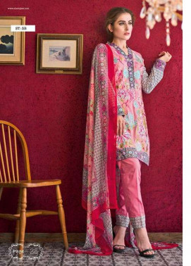 Feminine By Shariq Embroidered Lawn Unstitched 3 Piece Suit FM17E 5B
