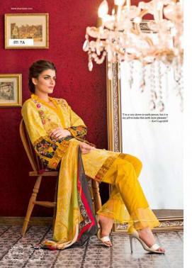 Feminine By Shariq Embroidered Lawn Unstitched 3 Piece Suit FM17E 7A