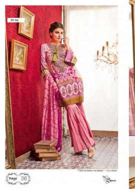 Feminine By Shariq Embroidered Lawn Unstitched 3 Piece Suit FM17E 8A