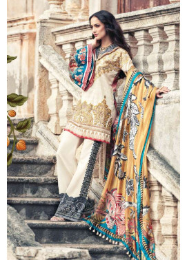 Faraz Manan Embroidered Lawn Unstitched 3 Piece Suit FM17L 01