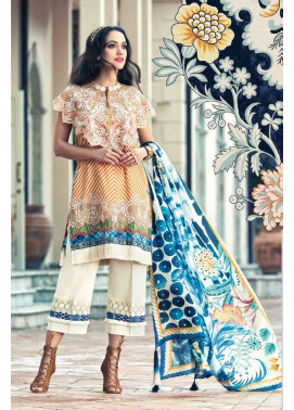 Faraz Manan Embroidered Lawn Unstitched 3 Piece Suit FM17L 04