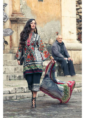 Faraz Manan Embroidered Lawn Unstitched 3 Piece Suit FM17L 05