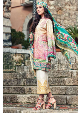Faraz Manan Embroidered Lawn Unstitched 3 Piece Suit FM17L 07