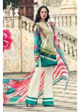 Faraz Manan Embroidered Lawn Unstitched 3 Piece Suit FM17L 17