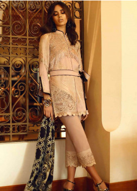 Faraz Manan Embroidered Jacquard Unstitched 3 Piece Suit FM18F 02 - Luxury Collection