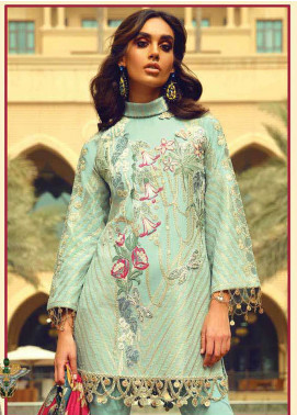 Faraz Manan Embroidered Jacquard Unstitched 3 Piece Suit FM18F 03 - Luxury Collection