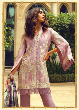 Faraz Manan Embroidered Jacquard Unstitched 3 Piece Suit FM18F 04 - Luxury Collection
