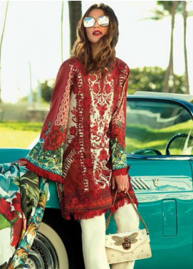 Faraz Manan Embroidered Lawn Unstitched 3 Piece Suit FM18L 01 - Spring / Summer Collection