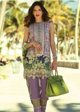 Faraz Manan Embroidered Lawn Unstitched 3 Piece Suit FM18L 03 - Spring / Summer Collection