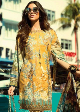 Faraz Manan Embroidered Lawn Unstitched 3 Piece Suit FM18L 04 - Spring / Summer Collection