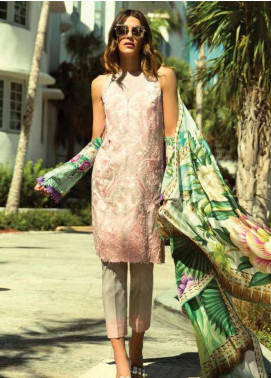 Faraz Manan Embroidered Lawn Unstitched 3 Piece Suit FM18L 08 - Spring / Summer Collection