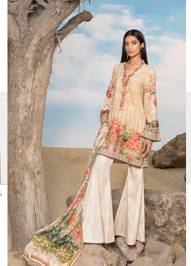 Sapphire Embroidered Khaddar Unstitched 3 Piece Suit SP17W Foliage Fusion A