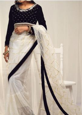 Sidra Mumtaz Embroidered Organza Stitched Saree 05 Nazli