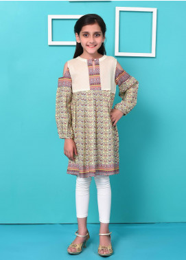 Ochre Lawn Embellished Formal Kurtis for Girls - OPL 41 Mix