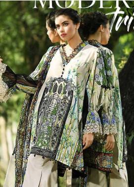 Firdous Fashion Embroidered Lawn Unstitched 3 Piece Suit FRC18E 10 - Eid Collection