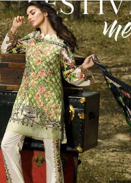 Firdous Fashion Embroidered Lawn Unstitched 3 Piece Suit FRC18E 13 - Eid Collection