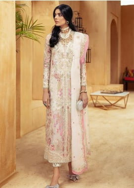 Freeshia by Suffuse Embroidered Organza Unstitched 3 Piece Suit FRS20WD Whisper - Wedding Collection