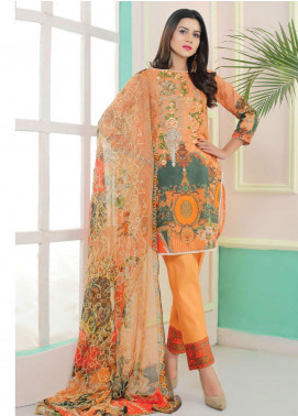 King Fabrics Embroidered Lawn Unstitched 3 Piece Suit KF20FL 1 - Summer Collction