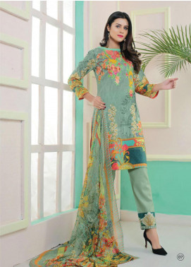 King Fabrics Embroidered Lawn Unstitched 3 Piece Suit KF20FL 2 - Summer Collction