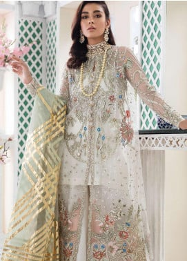 Freesia Suffuse by Sana Yasir Embroidered Zari Net Unstitched 3 Piece Suit FRS19E DAISY - Eid Collection