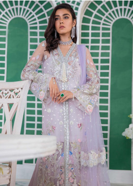 Freesia Suffuse by Sana Yasir Embroidered Zari Net Unstitched 3 Piece Suit FRS19E MYSTIQUE - Eid Collection